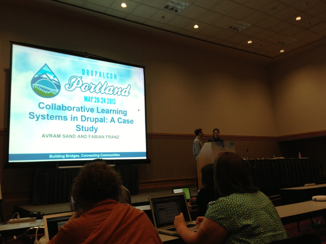 Collborative Learning Systems in Drupal: A Case Study (DrupalCon Session Notes)