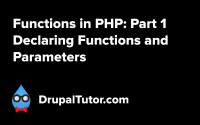 Functions Part 1: Declaring Functions and Parameters
