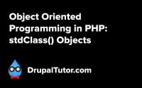 Object Oriented Programming: stdClass Objects