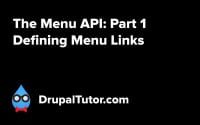 Menu API: Part 1 - Defining Menu Links