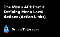 Menu API: Part 3 - Defining Action Links