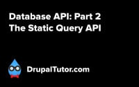 Database API: Part 2 - Static Query API
