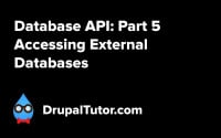 Database API: Part 5 - Accessing External Databases