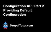 Configuration API: Part 2 - Providing Default Configuration
