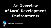 An Overview of Local Development Environments